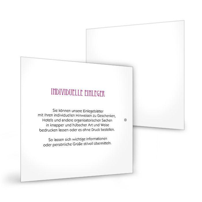 Einleger für quadratische Einsteckkarten 15 x 15 cm