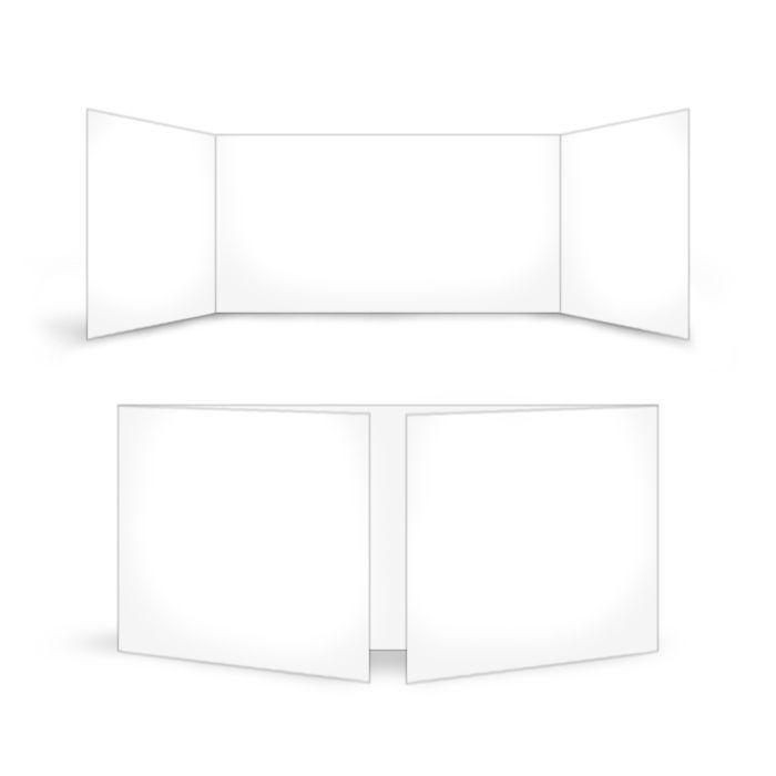 Blanko Altarfalz 21 x 10 mittig zum online selbst Gestalten
