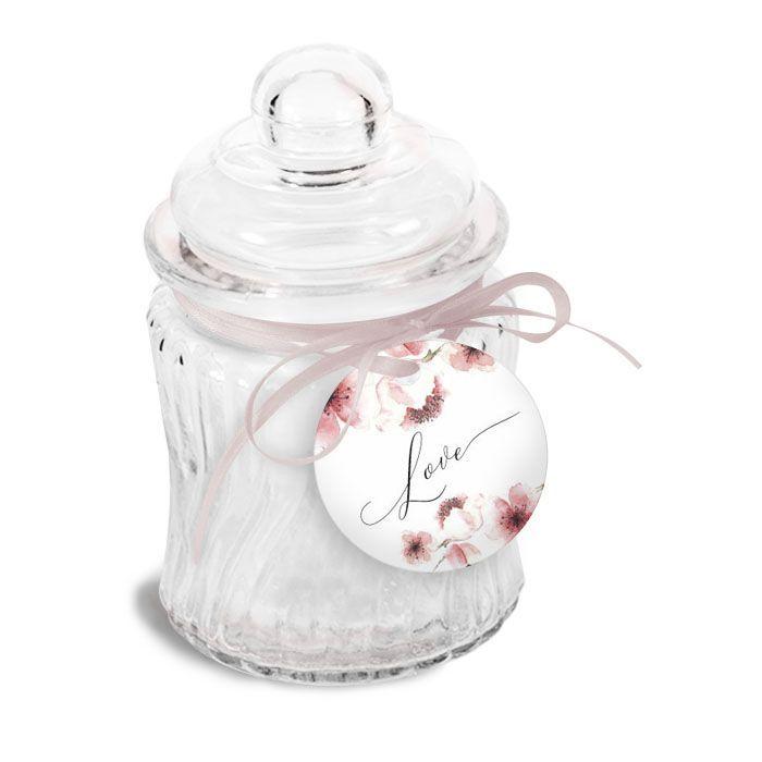 Anhänger für Gastgeschenke zur Hochzeit mit Kirschblüten