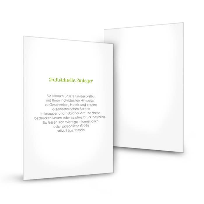 Transparenter Einleger für Einladungen im Postkartenformat
