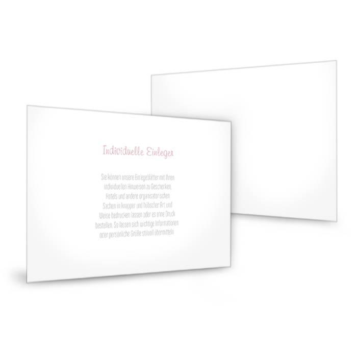 Transparenter Einleger zu den Hochzeitseinladungen 15 x 10 cm