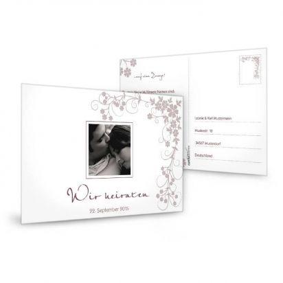 Antwortkarte für die Hochzeit