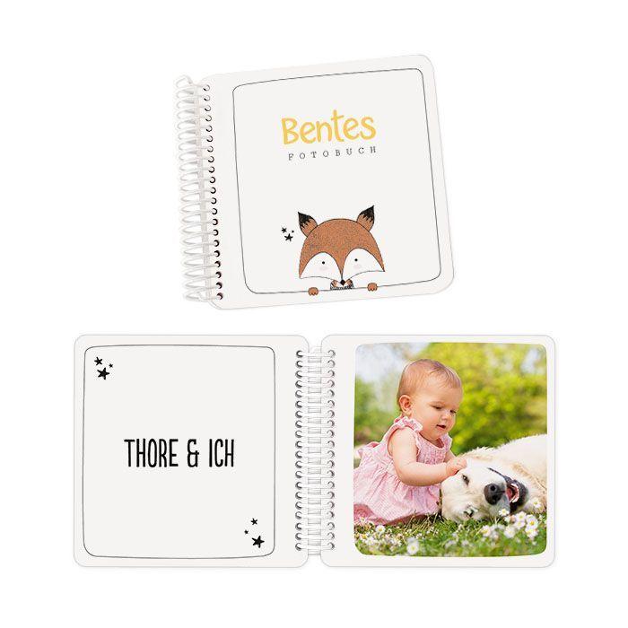 Fotobuch für Kinder mit extra dicken Seiten und süßem Fuchs
