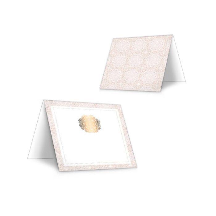Tischkarten zur Hochzeit in Rosé mit Gold zum Beschriften