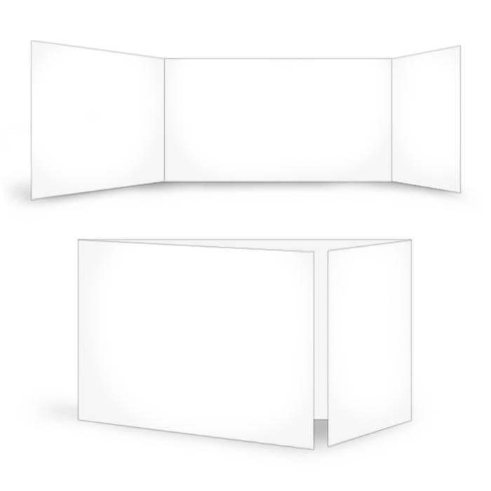 Online selbst gestalten: Blanko Altarfalz im Format 21x10 cm