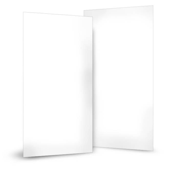 Blanko Einleger für Einsteckkarten im Hochformat