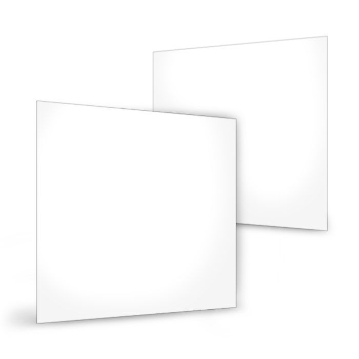 Postkarte für eigenes Design im Format 15 x 15 cm