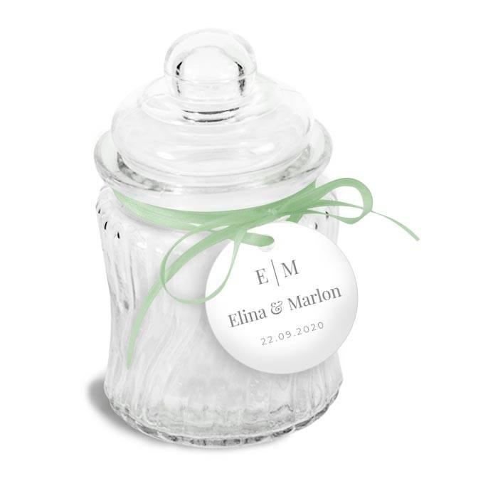 Botanical Geschenkanhänger zur Hochzeit im Greenery Stil