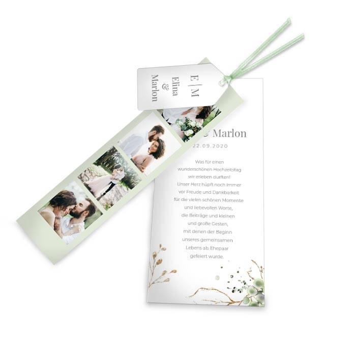 Botanical Kartenset als Danksagung zur Hochzeit