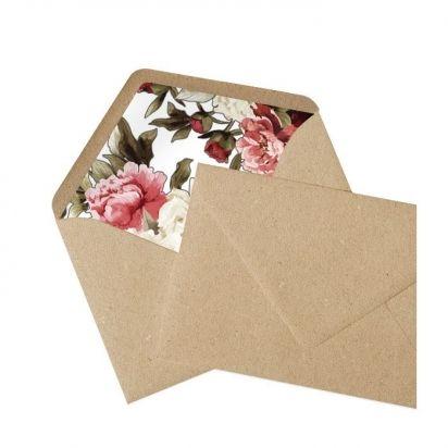 Briefumschlag mit bedrucktem Innenfutter
