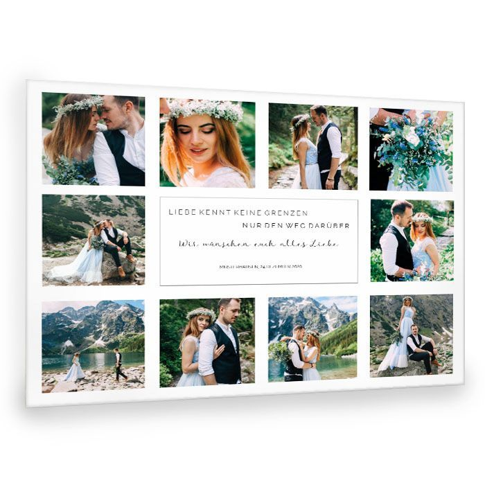 Weihnachtsgeschen Collage Hochzeit mit vielen Fotos 30x40