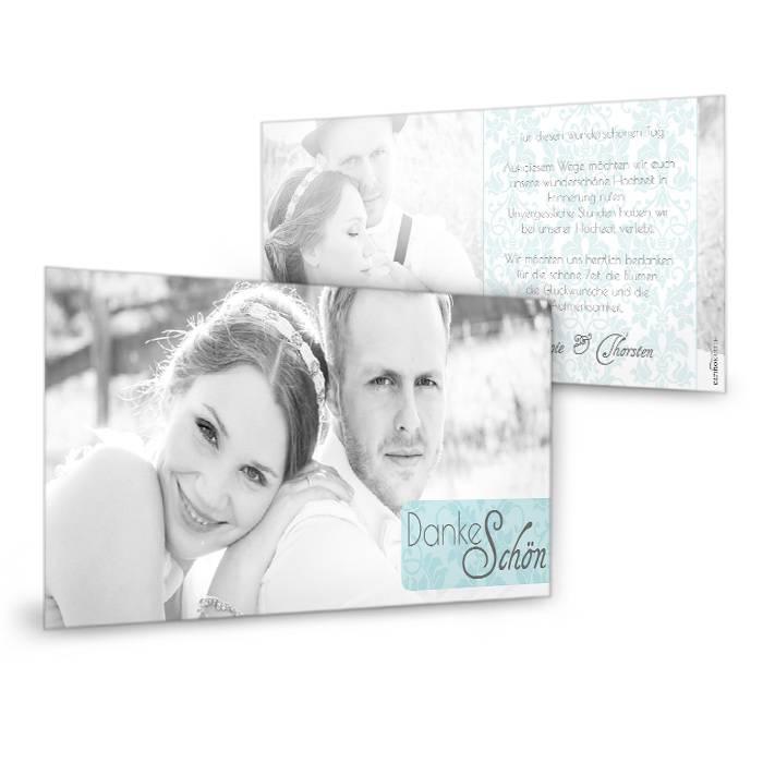 Barocke Danksagung zur Hochzeit in Minz mit großen Fotos