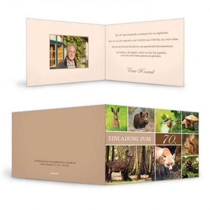 Einladungskarte zum Geburtstag
