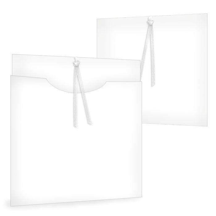 Einsteckkarte Blanko im Format 15 x 15 cm zum selbst Gestalten