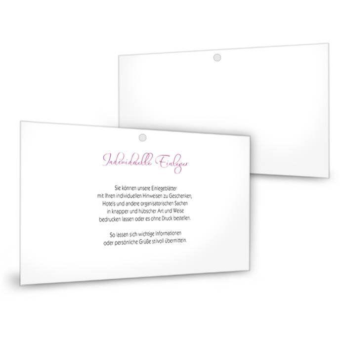 Transparenter Einleger für Einladungen im Format 21 x 10 cm