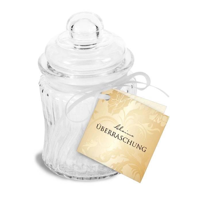 Eleganter Geschenkanhänger mit floralem Design in Gold