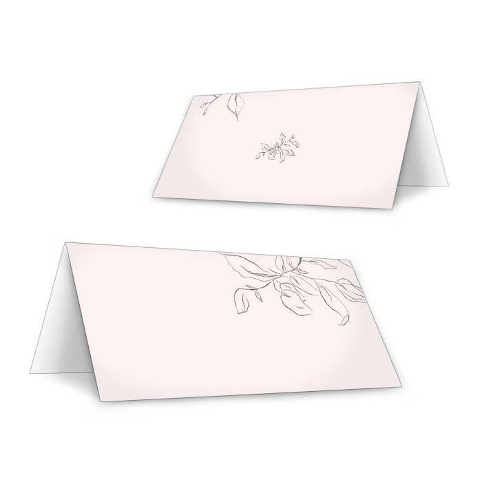 Fineart Tischkarte zur Hochzeit mit Zweig zum Beschriften