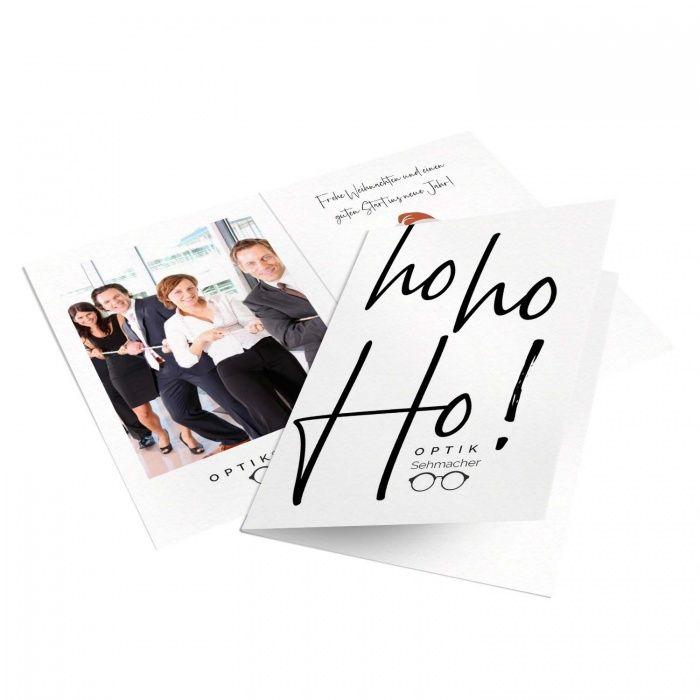 Firmen Weihnachtskarte für Optiker mit Schriftzug