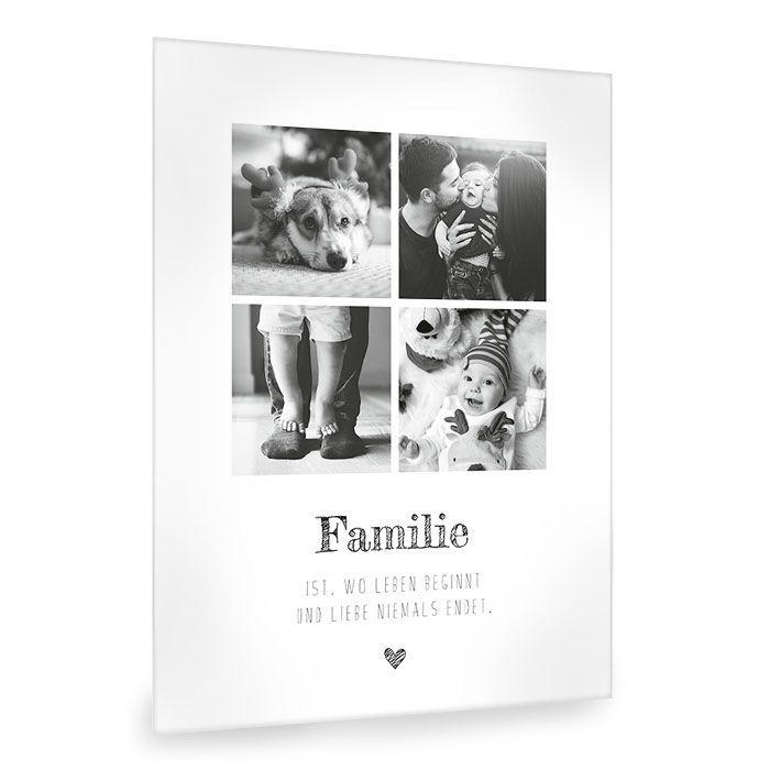 Moderne Fotocollage mit Spruch zum Thema Familie