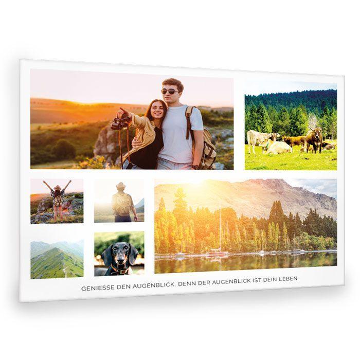 Fotocollage mit vielen Erlebnisfotos und Spruch