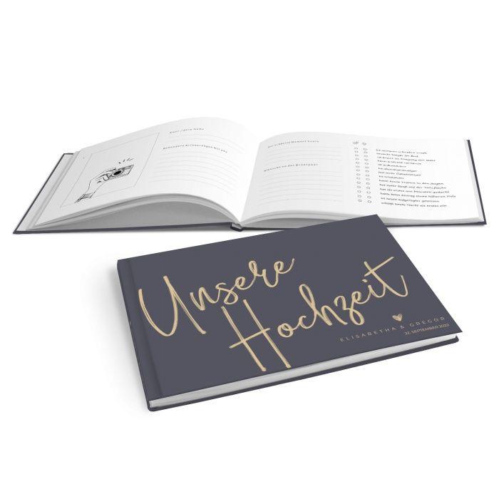 Hardcover Gästebuch mit Kalligraphischrift zur Hochzeit