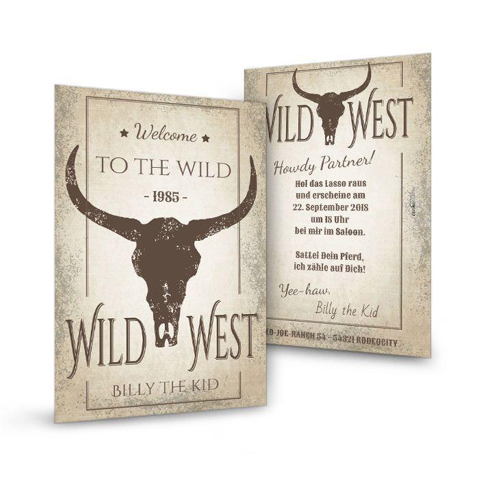 Geburtstagseinladung im Western Style - Wilder Western