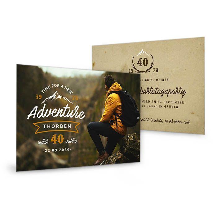 Geburtstagskarte für Abenteuer und Globetrotter