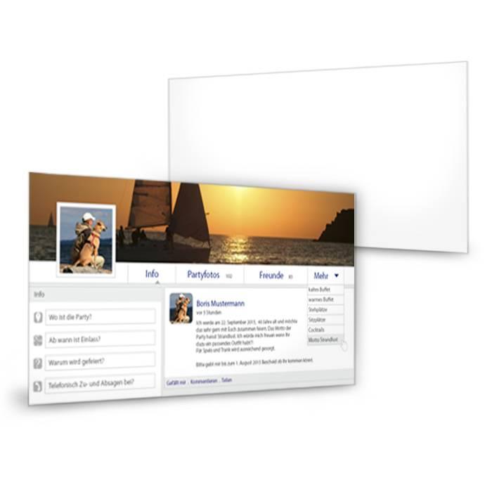 Einladung zum Geburtstag im Facebook Design