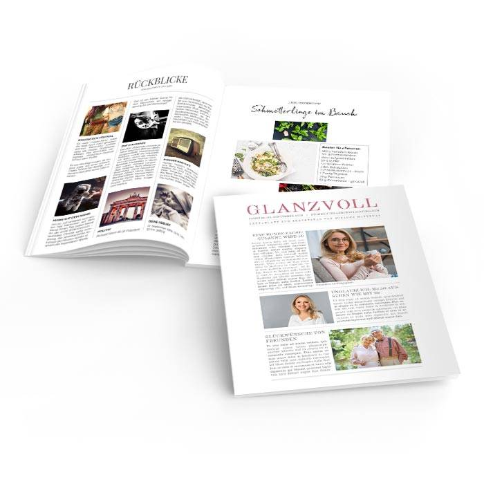 Geburtstagszeitung Glanzvoll im Tageszeitungs Layout