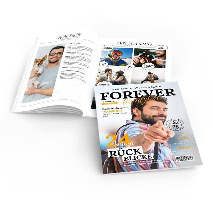 Geburtstagszeitungen im Magazin Style mit gelben Titeln