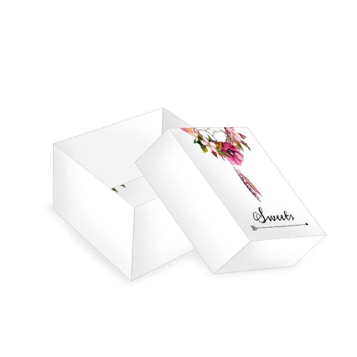 Kleine Geschenkbox zur Hochzeit im Boho Stil mit Traumfänger