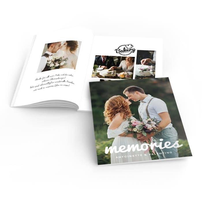 Hochzeitsdanksagung als Fotoheft mit großem Titelfoto