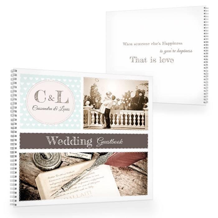 Gästebuch zur Hochzeit im Retrostyle in Minz mit Fotos