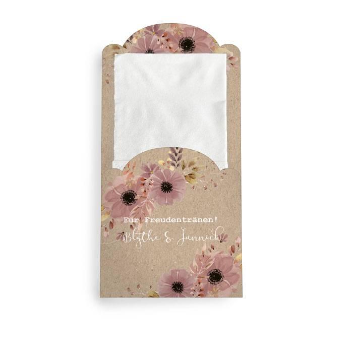 Hüllen für Freudentränen Taschentücher im Kraftpapierstil