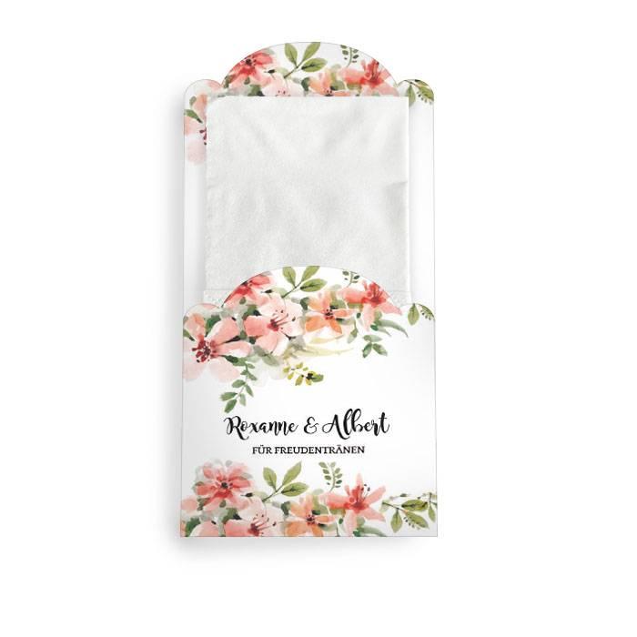 Hüllen für Freudentränen Taschentücher mit Aquarellblumen