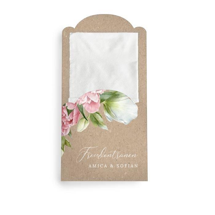 Hüllen für Freudentränen Taschentücher mit Pfingstrosen
