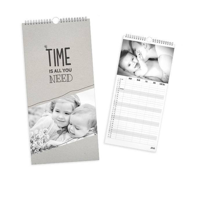 Wandkalender mit vielen Bildern und toller Aufteilung - 4 spaltig