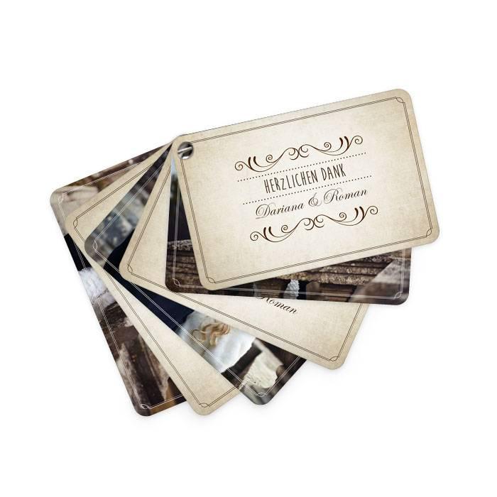Kartenfächer als Hochzeitsdanksagung  im Shabby Chic Stil