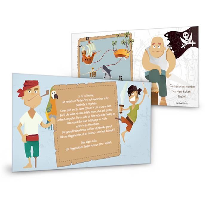 Einladung zum Kindergeburtstag mit Piraten-Motto