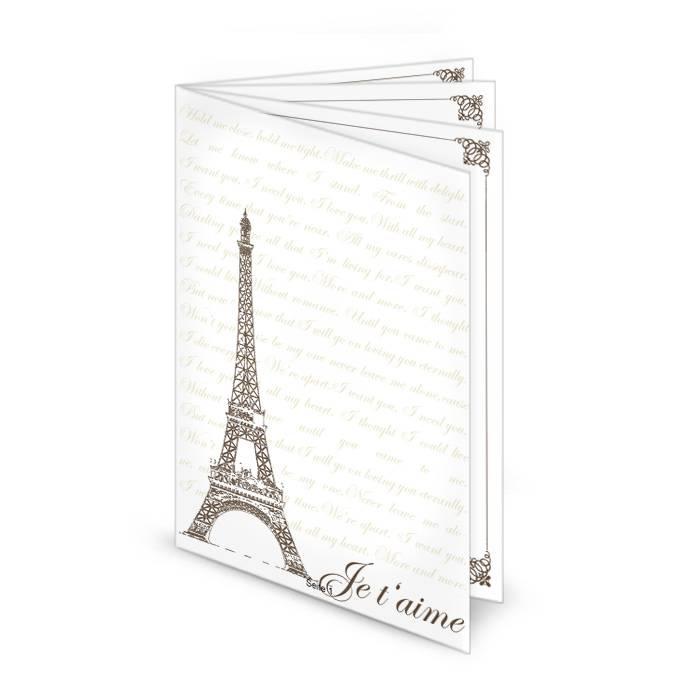 Kirchenheft zur Hochzeit mit Paris Flair und Eiffelturm