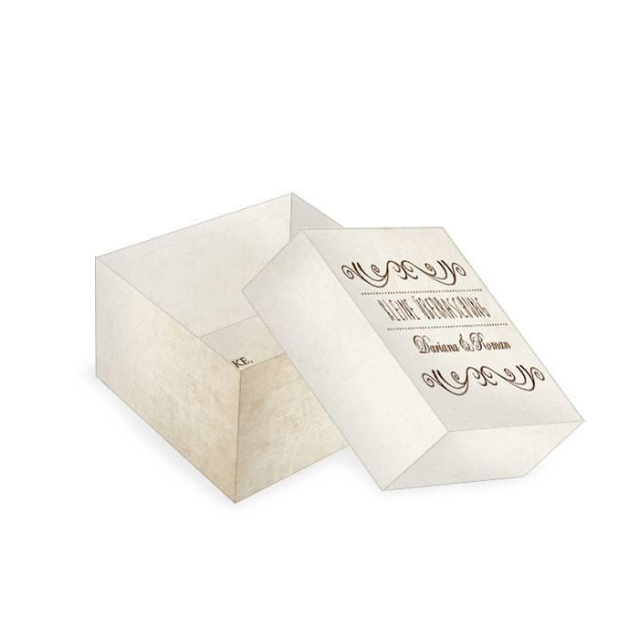 Kleine Geschenkbox für Gastgeschenke im Shabby Chic Look