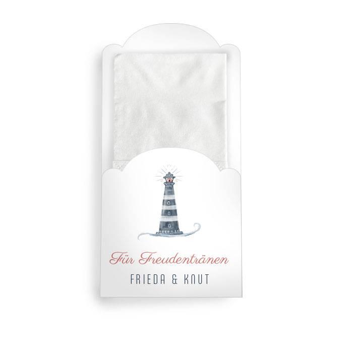 Hüllen für Freudentränen Taschentücher mit Leuchtturm