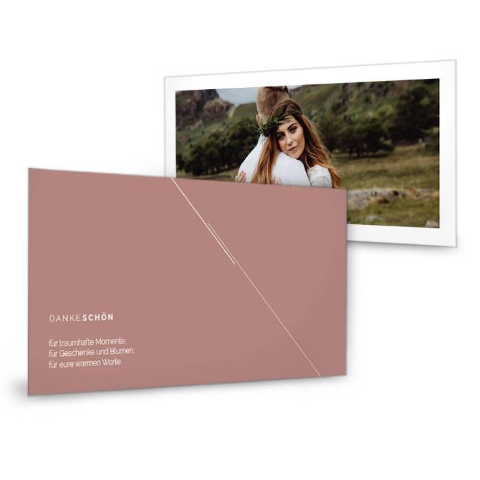 Minimalistische Danksagungskarte für urbane Hochzeiten
