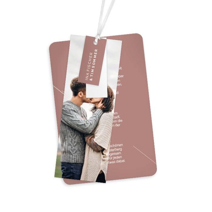 Minimalistische Hochzeitseinladung als Kartenset