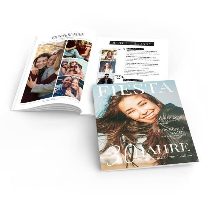 Moderne Geburtstagszeitung im Magazin Stil mit großem Foto