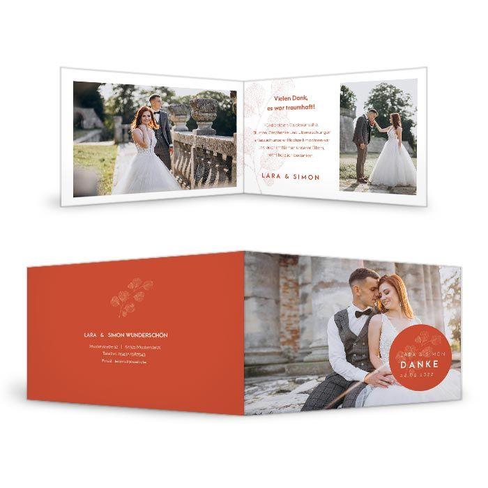 Moderne Hochzeitsdanksagungen mit Ihren schönsten Fotos