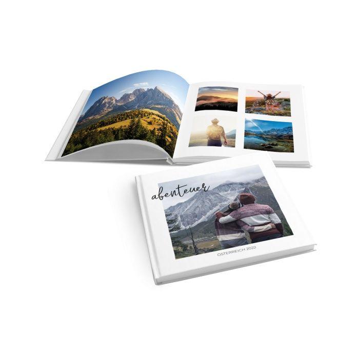 Modernes Fotobuch für Abenteurer mit grossem Foto