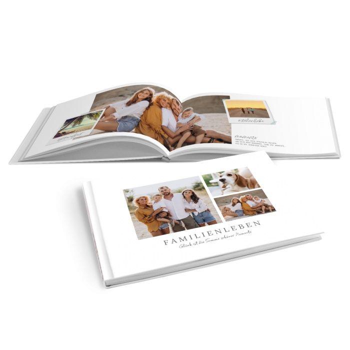 Modernes Fotobuch für Familienfotos im schlichten Design