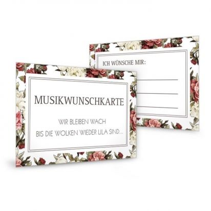 Musikwunschkarte