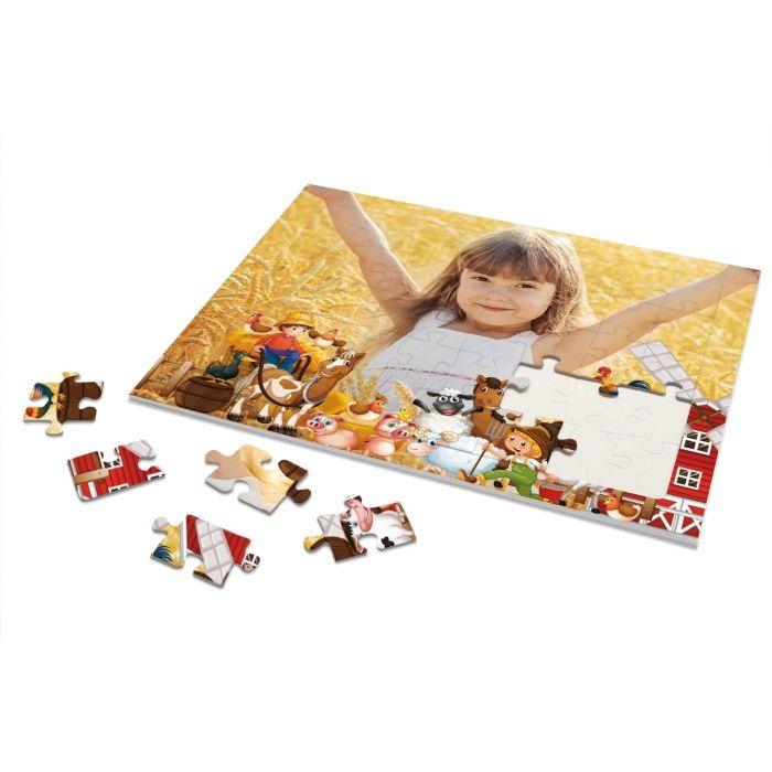 Rahmenpuzzle für Kinder mit eigenen Foto und Bauernhofmotiv - 40 Teile